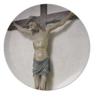 Crucifix (polychrome wood) melamine plate