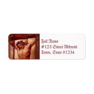 Crucifix Return Address Mailing Label Return Address Label