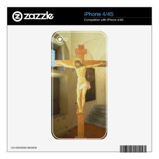Crucifix (tempera on wood) iPhone 4 decals