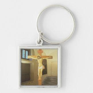 Crucifix (tempera on wood) keychain