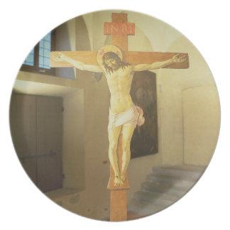 Crucifix (tempera on wood) melamine plate