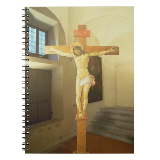 Crucifix (tempera on wood) notebook