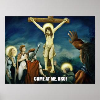 Crucifixation - Jesus Lowbrow Art Poster 12x16