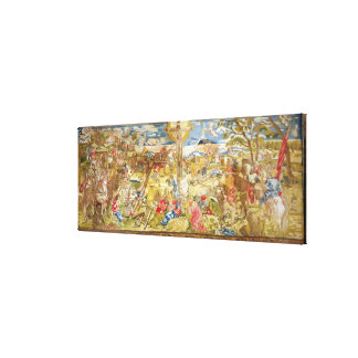 Crucifixion, 1609 (embroidery) canvas print