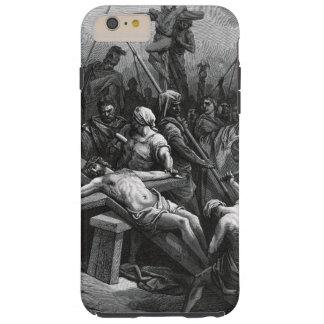 Crucifixión 1866 de Jesús del grabado de Gustavo Funda Resistente iPhone 6 Plus