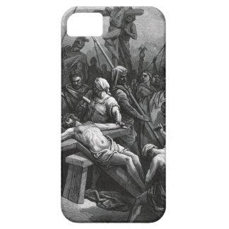 Crucifixión 1866 de Jesús del grabado de Gustavo iPhone 5 Fundas