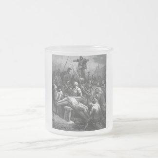 Crucifixión 1866 de Jesús del grabado de Gustavo Taza De Cristal