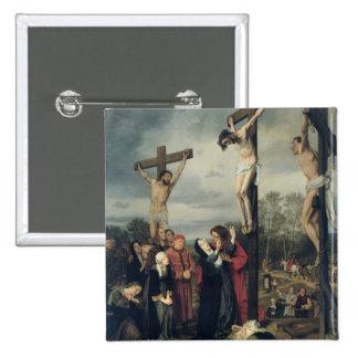 Crucifixión, 1873 pin cuadrada 5 cm