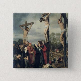 Crucifixion, 1873 pinback button