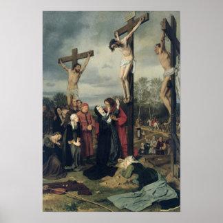 Crucifixión, 1873 póster
