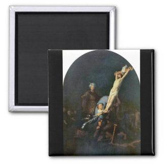 Crucifixion 2 by Rembrandt Harmenszoon van Rijn Refrigerator Magnet