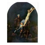 Crucifixion 2 by Rembrandt Harmenszoon van Rijn Postcard