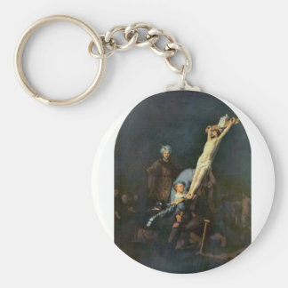 Crucifixión 2 de Rembrandt Harmenszoon van Rijn Llavero Redondo Tipo Pin