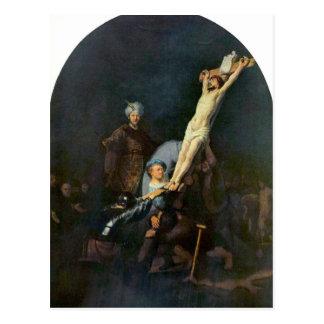 Crucifixión 2 de Rembrandt Harmenszoon van Rijn Postal