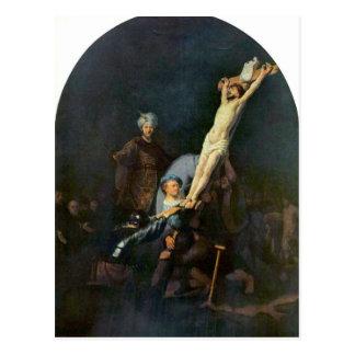 Crucifixión 2 de Rembrandt Harmenszoon van Rijn Tarjetas Postales