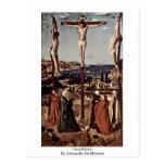 Crucifixion By Antonello Da Messina Postcard