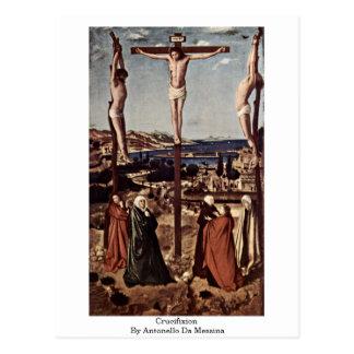 Crucifixion By Antonello Da Messina Post Card