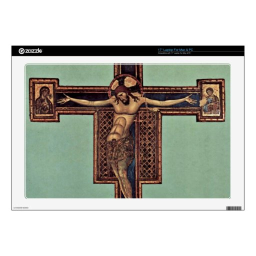 Crucifixion by Giunta Pisano Laptop Decals