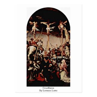 Crucifixion By Lorenzo Lotto Postcard