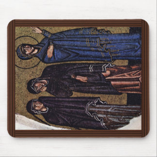 Crucifixion  By Meister Der Nea-Moni-Kirche In Chi Mouse Pad