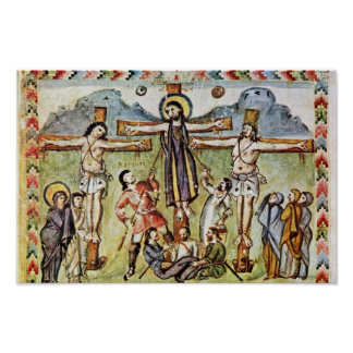Crucifixion By Meister Des Rabula-Evangeliums (Bes Poster