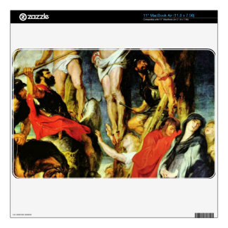 Crucifixion by Paul Rubens Skin For MacBook