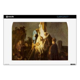 Crucifixion by Rembrandt Harmenszoon van Rijn Laptop Skin