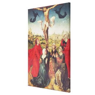 Crucifixion, c.1510 (oil on panel) canvas print