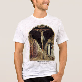 Crucifixión con St Dominic por Fra Angelico Playera