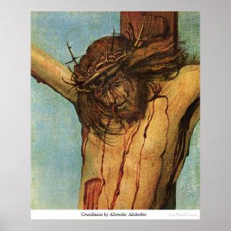 Crucifixión de Albrecht Altdorfer Poster