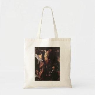 Crucifixión de Caravaggio- de St Andrew Bolsas De Mano