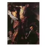 Crucifixión de Caravaggio- de St Andrew Postales