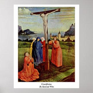 Crucifixión de Conrado Witz Poster