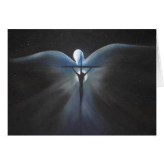 Crucifixión de Cristo con el Espíritu Santo, poema Tarjeta De Felicitación