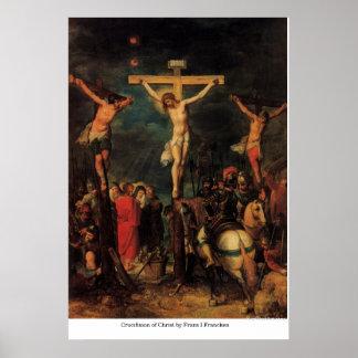 Crucifixión de Cristo de Francisco I Francken Impresiones