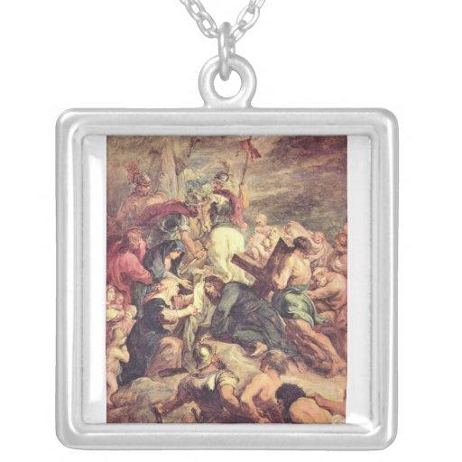 Crucifixión de Cristo de Paul Rubens Collar Personalizado