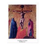 Crucifixión de Cristo por Masaccio Tarjeta Postal