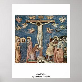Crucifixión de Giotto Di Bondone Poster