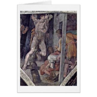 Crucifixión de Hamam de Miguel Ángel Buonarroti Tarjetón