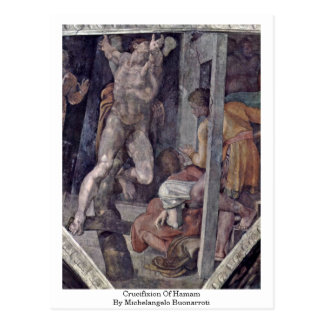 Crucifixión de Hamam de Miguel Ángel Buonarroti Tarjeta Postal