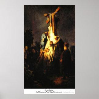 Crucifixión de Harmensz Van Rijn Rembrandt Impresiones