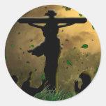 Crucifixión de Jesús Pegatinas Redondas