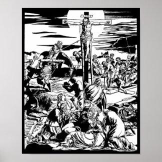 ¡Crucifixión de la impresión del arte del vintage  Impresiones