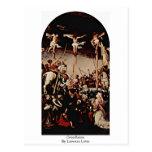 Crucifixión de Lorenzo Lotto Postal
