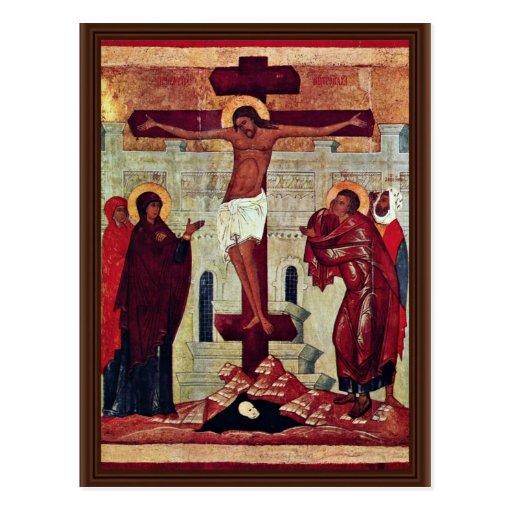 Crucifixión de Meister Der Schule Von Nowgorod (se Postales