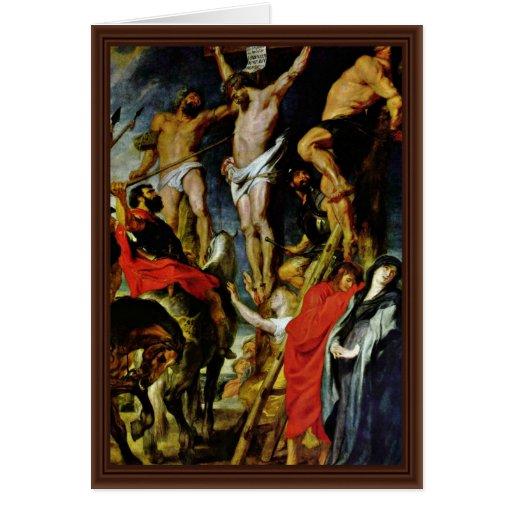 Crucifixión de Rubens Peter Paul (la mejor calidad Felicitacion