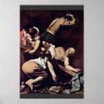Crucifixión de San Pedro de Miguel Ángel Merisi DA Poster