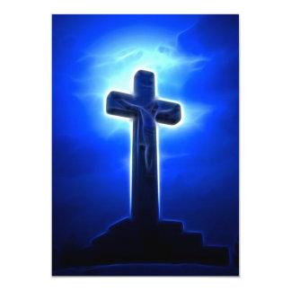 """Crucifixión del atontamiento Jesús Invitación 5"""" X 7"""""""