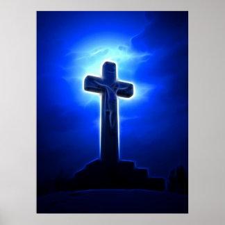Crucifixión del atontamiento Jesús Posters