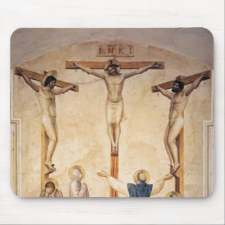 Crucifixión del Fra Angelico- con los deudos Tapetes De Raton